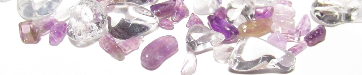水晶さざれ石×アメジストさざれ石