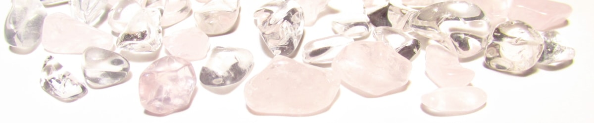 水晶さざれ石×ローズクオーツさざれ石